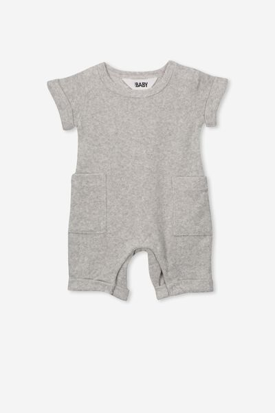River Playsuit, GREY MARLE
