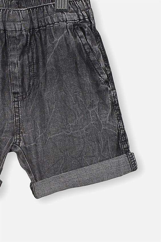 Domenic Denim Wash Short, BLACK WASH
