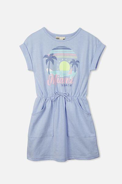 Sibella Short Sleeve Dress, BUTTERFLY BLUE MARLE/MIAMI