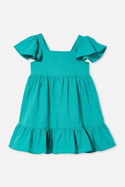 Cady Short Sleeve Dress, TROPICAL AQUA