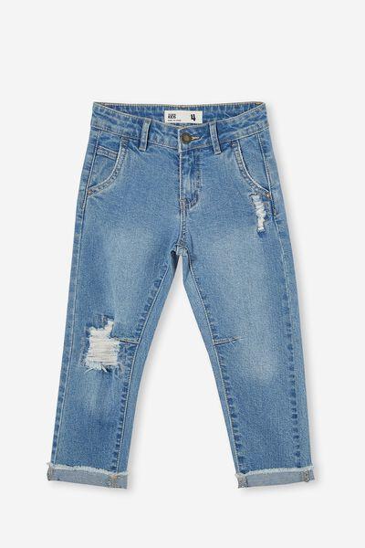 Straight Fit Jean, BYRON MID BLUE
