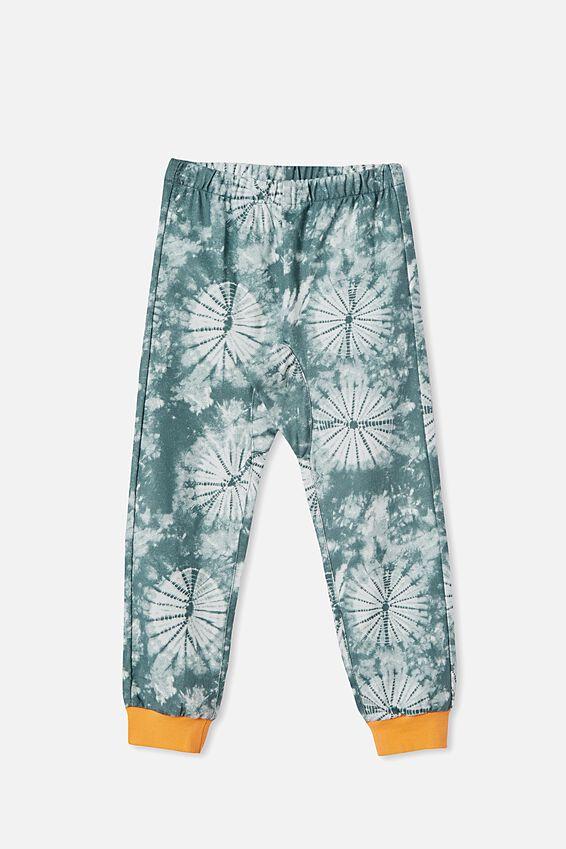 Noah Long Sleeve Pyjama Set, DINOSAUR TIE DYE/SWAG GREEN