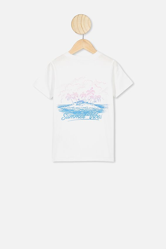 Max Short Sleeve Tee, WHITE/SUMMER VIBES