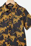 Kip&Co Boys Short Sleeve Shirt, LCN KIP CHEETAH