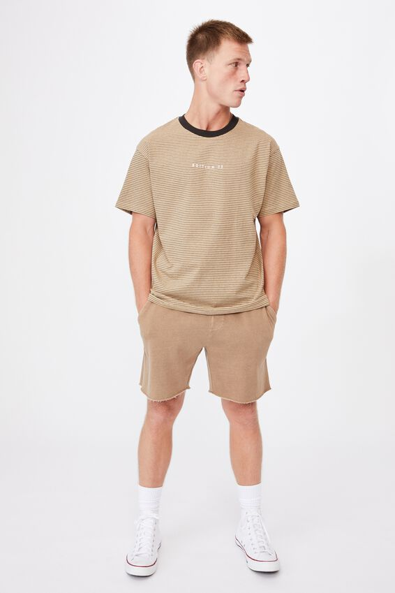 Dylan T-Shirt, LIGHT CAMEL MICRO STRIPE