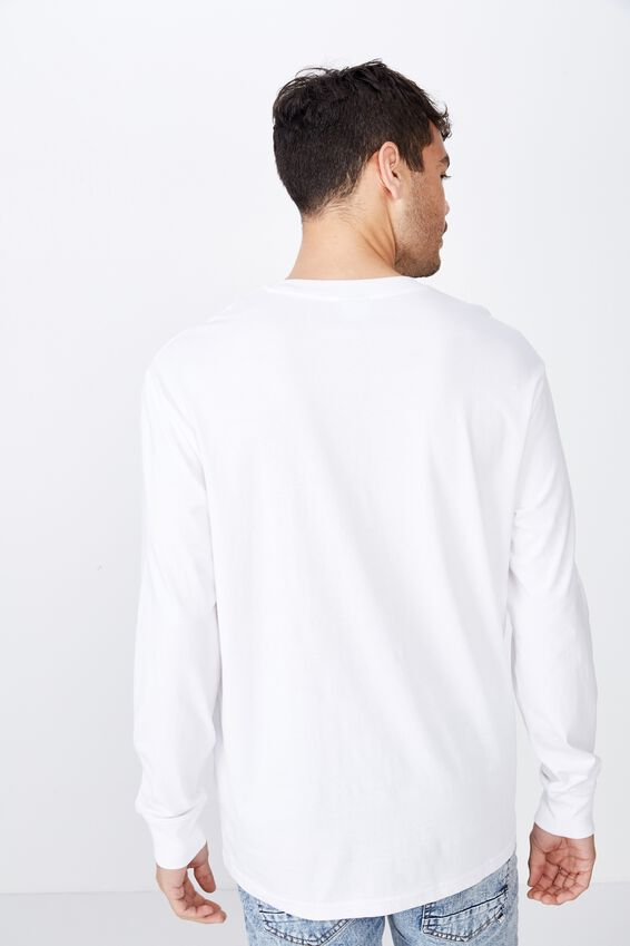 Tbar Long Sleeve, WHITE/PARANORMAL