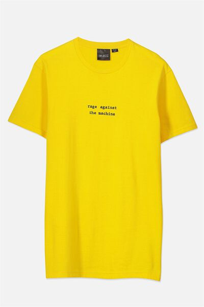Tbar Collaboration Tee, LC SAFETY YELLOW/RAGE AGAINST