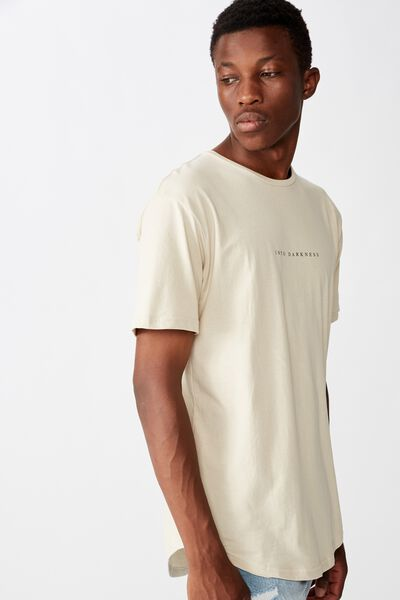 Longline Scoop Tee, PEARL EDGE OF ABYSS
