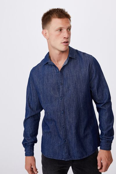 Fitzroy Denim Shirt, RINSE INDIGO
