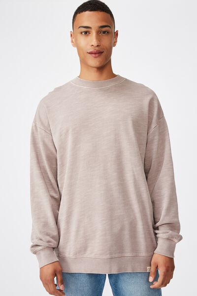 Pigment Dyed Oversized Crew, MUSK