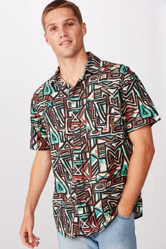 91 Short Sleeve Shirt, TRIBAL POP