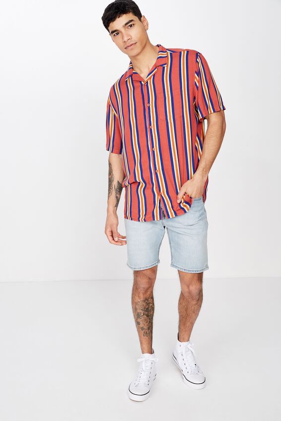 Festival Shirt, RED MULTI STRIPE