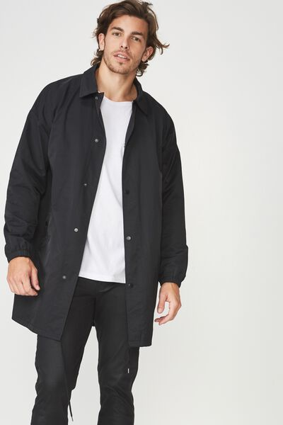 Trench Coaches Jacket, BLACK