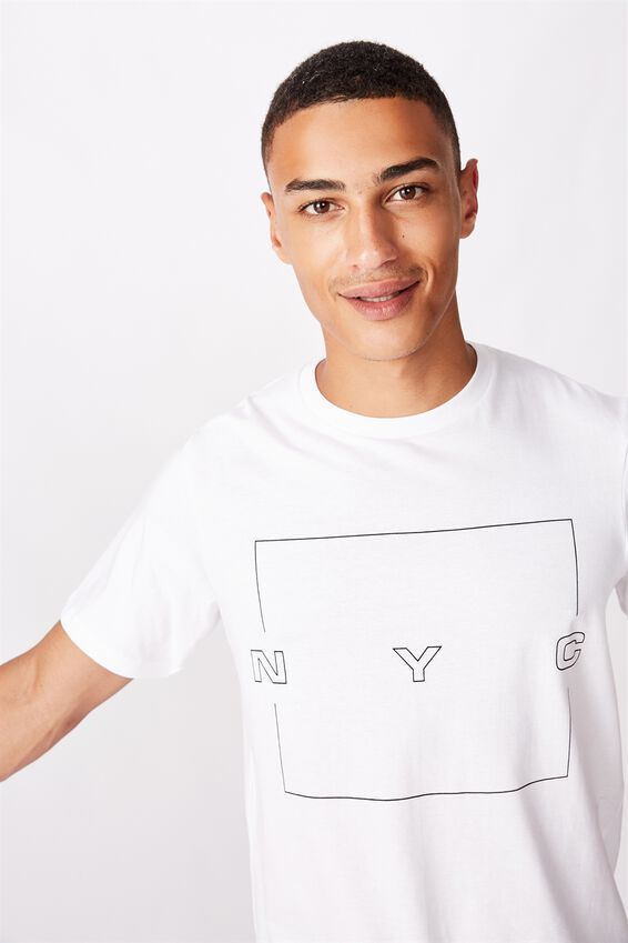 Tbar Street T-Shirt, WHITE/DISCONNECT