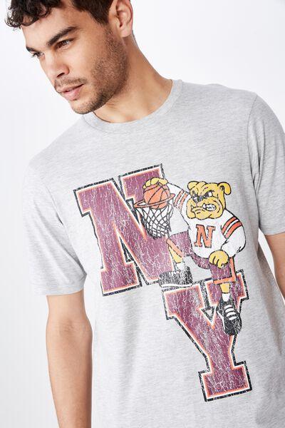 Tbar Sport T-Shirt, SK8 LIGHT GREY MARLE/NY DUNKS