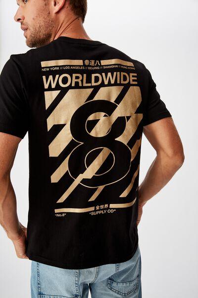 Tbar Cny T-Shirt, BLACK/LUCKY 8 WORLDWIDE