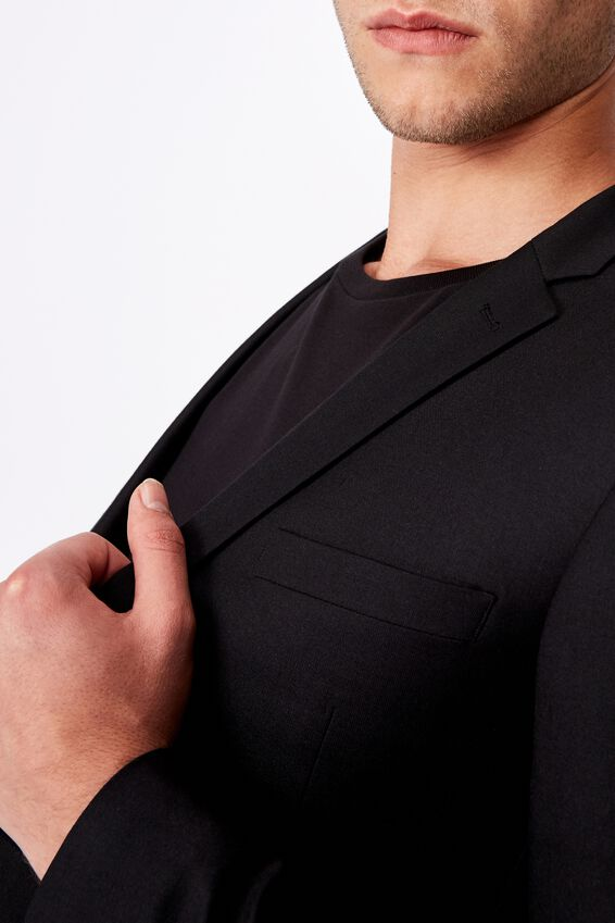 Slim Stretch Suit Jacket, TRUE BLACK