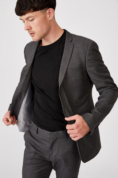 Slim Stretch Suit Jacket, CHARCOAL