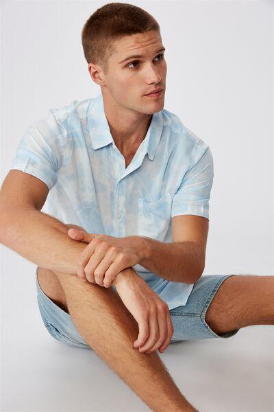 91 Short Sleeve Shirt, DUSTY BLUE TYEDYE