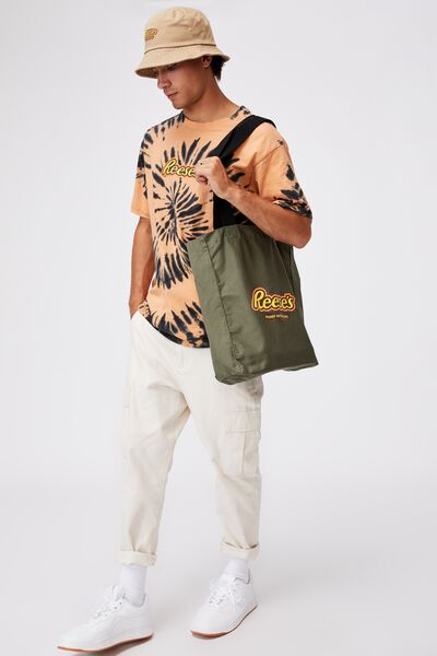 Special Edition Shoulder Tote, LCN HER REESES PBC/MILITARY GREEN