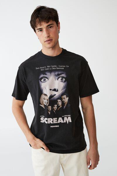 Special Edition T-Shirt, LCN MIR BLACK/SCREAM-POSTER