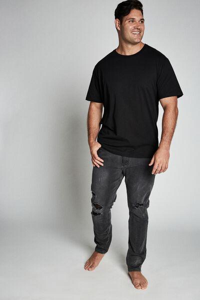 Bg Slim Fit Jean, WORKER BLACK BLOWOUT
