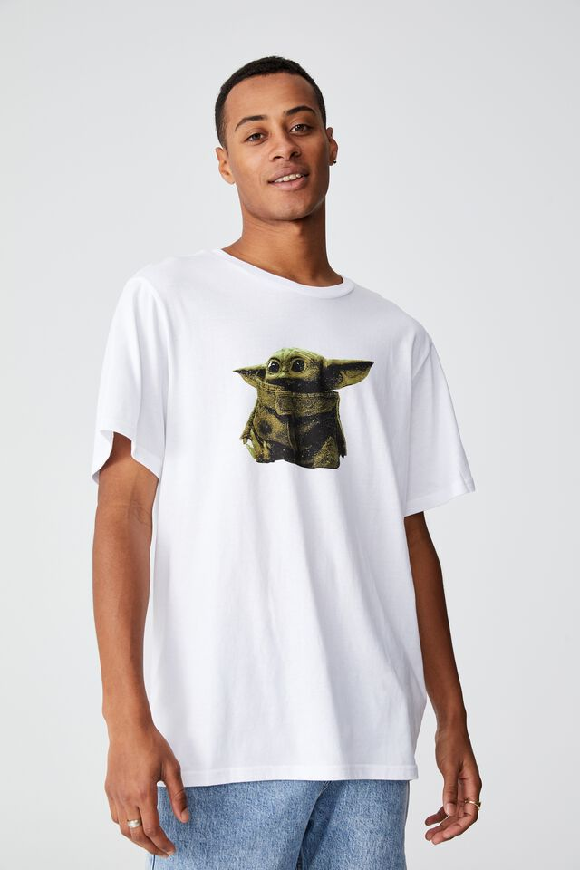 Tbar Collab Movie And Tv T-Shirt, LCN DIS WHITE/THE MANDALORIAN - THE CHILD