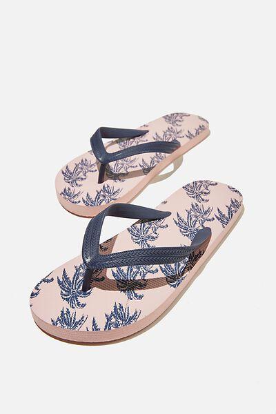 Bondi Flip Flop, PINK/WINDY PALMS