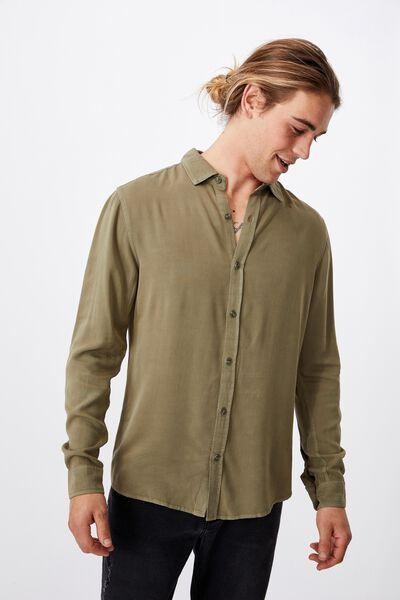 Cayman Long Sleeve Shirt, WASHED KHAKI