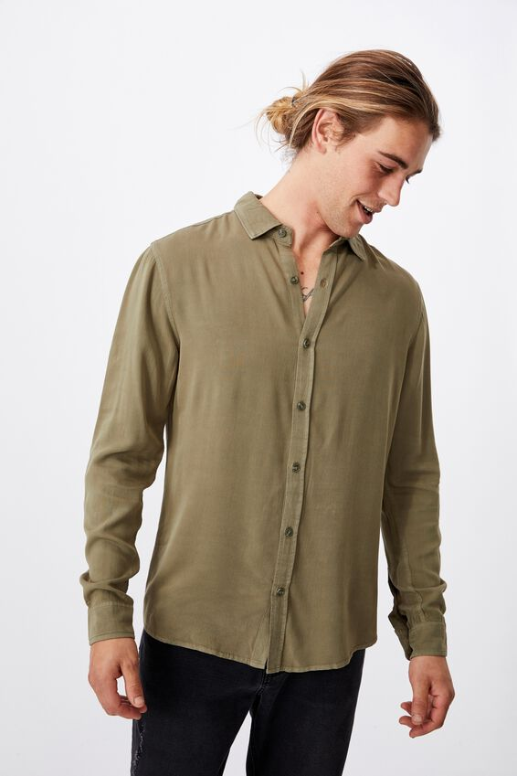 91 Long Sleeve Shirt, WASHED KHAKI