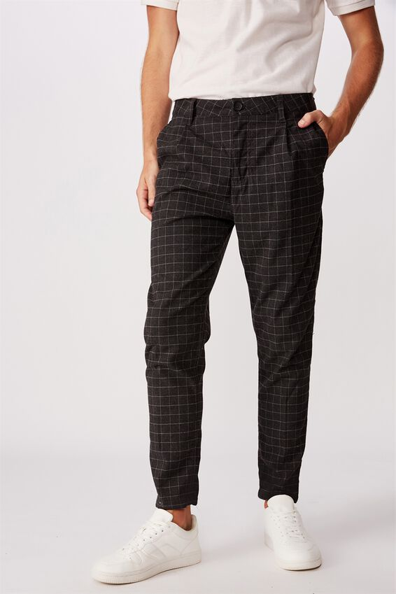 Oxford Trouser, BLACK WINDOW