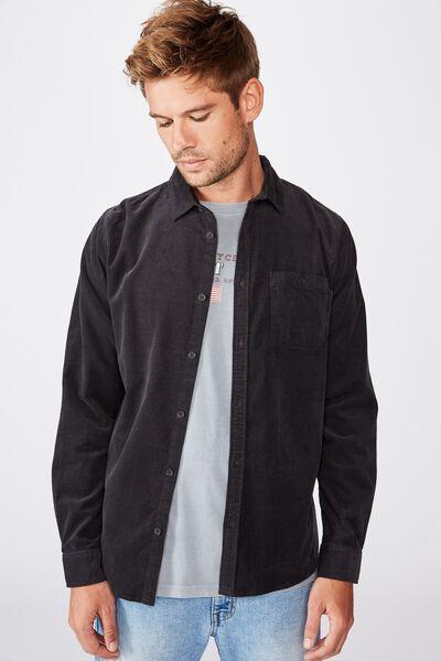 Vintage Cord Shirt, BLACK