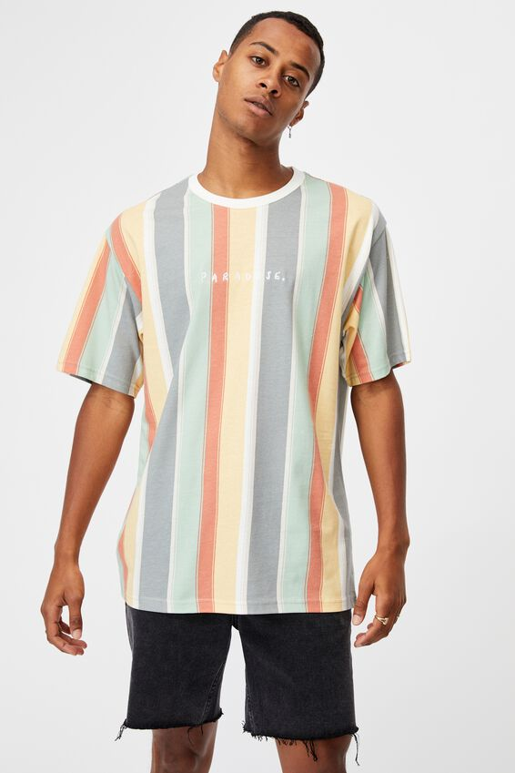 Downtown T-Shirt, BLUE HAZE SURF STRIPE