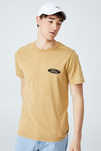 Ford T-Shirt, LCN FOR CURRY BROWN/FORD - LOGO