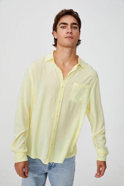 Cayman Long Sleeve Shirt, LEMON