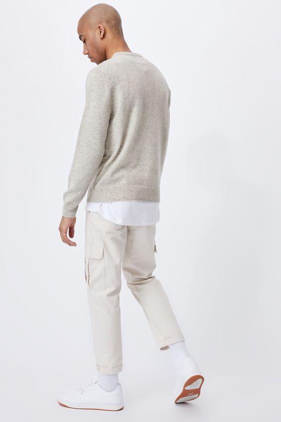 Premium Crew Knit, OATMEAL MARLE
