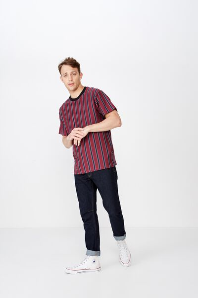 Downtown Loose Fit Tee, DEEP WINE/TRUE NAVY/VINTAGE WHITE/SUPPLY CO