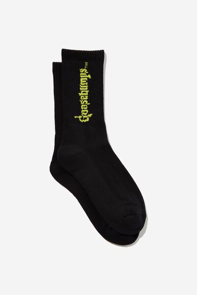 Special Edition Active Sock, LCN GB BLACK/GOOSEBUMPS