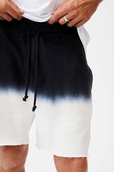 Premium Fleece Short, WASHED BLACK/BONE DIP DYE