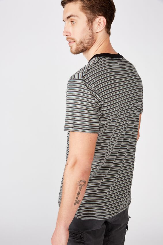 Dylan Tee, WASHED BLACK/GUN POWDER GREY/FADED SLATE/DEEP SEA