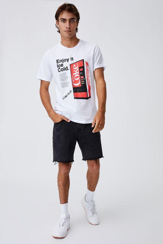 Tbar Collab Pop Culture T-Shirt, LCN CC WHITE/COCA COLA - ENJOY ICE COLD