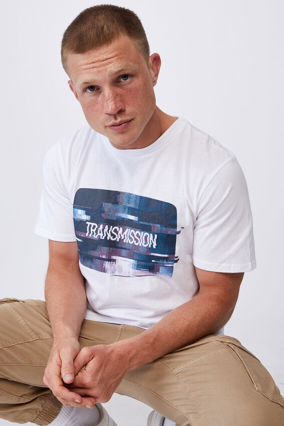 Tbar Art T-Shirt, WHITE/TRANSMISSION