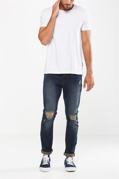Slim Fit Jean, BROOKLYN BLUE + RIPS