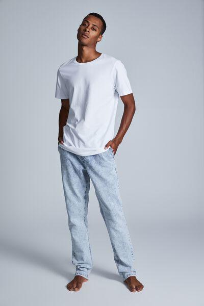 Elasticated Slim Jean, BECKLEY BLUE