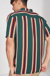Festival Shirt, GREEN BOLD STRIPE