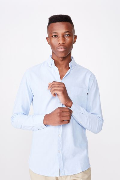 Brunswick Shirt 3, SKY BLUE OXFORD