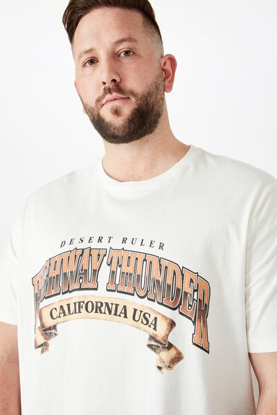 Tbar Tee, VINTAGE WHITE/HIGHWAY THUNDER