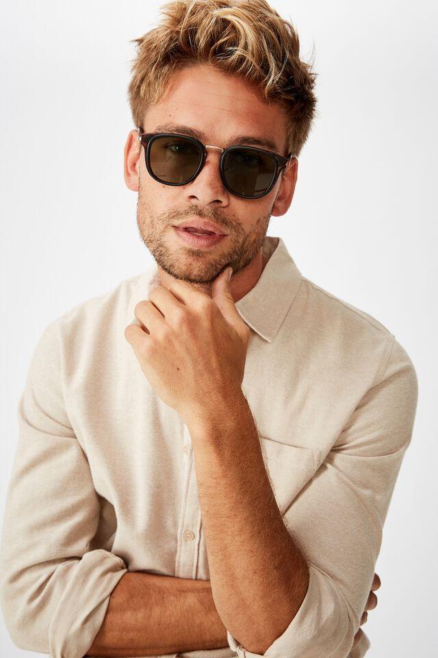 Highton Sunglasses, TORT GOLD GREEN