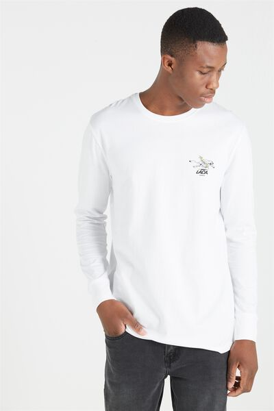 Tbar Long Sleeve, WHITE/LACA MOTO PARTS