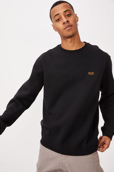 Crew Fleece 2, BLACK/UNION LABEL